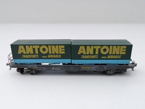 Wagon container bâché Roco 25219 échelle N