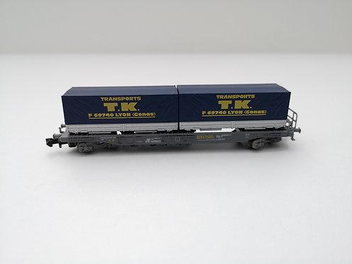 Wagon container bâché Roco 25219.1 échelle N