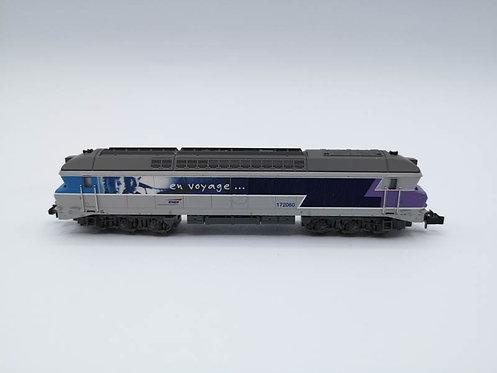 Locomotive diesel CC 172060 SNCF- Minitrix 12328 analogique échelle N