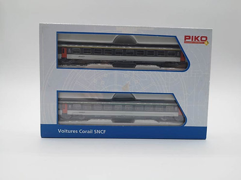 Coffret voitures voyageurs corail SNCF - Piko 94300 échelle N
