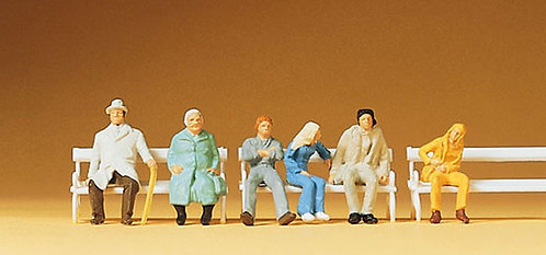 Preiser 14004 Figurines, personnages assis HO