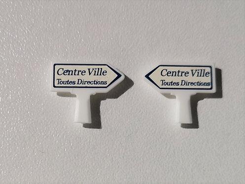 SAI collection réf 8414 Panneaux michelin centre ville toutes directions HO