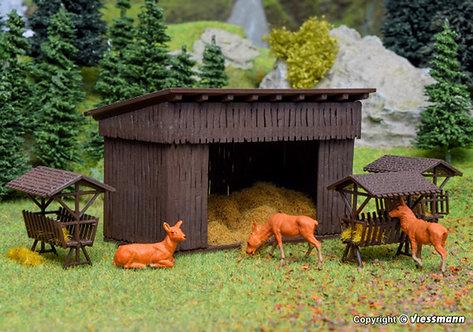 Vollmer 43798 Grange d'alimentation pour animaux HO