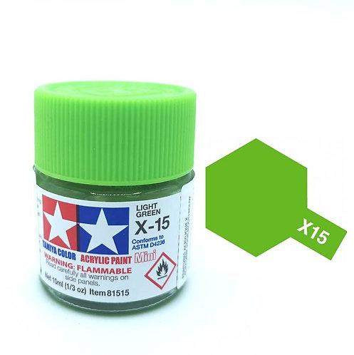 Tamiya X-15 - Vert Pâle brillant (10ml)