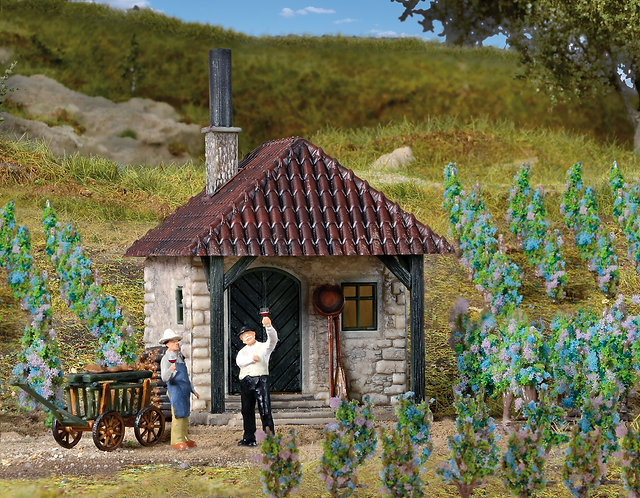 Maison vigneronne avec des vignes (48 piéces) HO Vollmer 45129