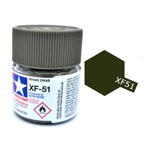 Tamiya XF-51 - Vert Kaki mat (10ml)