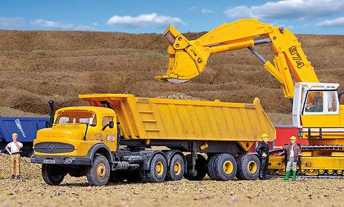 Camion benne avec remorque HO – KIBRI 14025