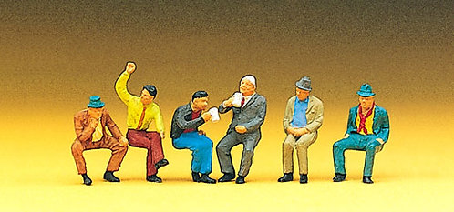 Preiser 10097 - Figurines, dans le jardin HO