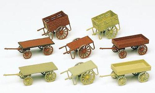 Preiser 17103 Figurines, charettes à bras HO