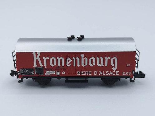 """Wagon de marchandises """"KRONENBOURG"""" - Minitrix 3594 échelle N"""