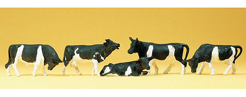 Preiser 14155 Figurines, vaches noires HO
