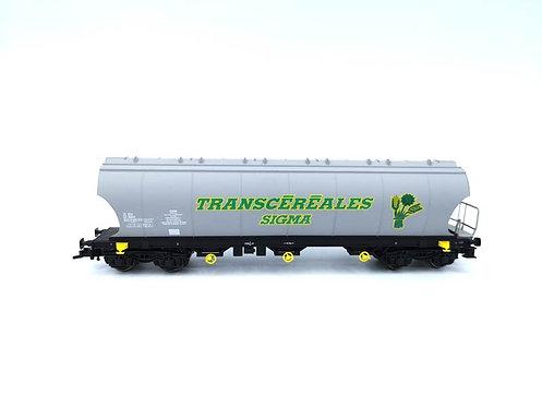 Wagon trémie à bogies Transcéréales sigma SNCF - Jouef 668900 HO