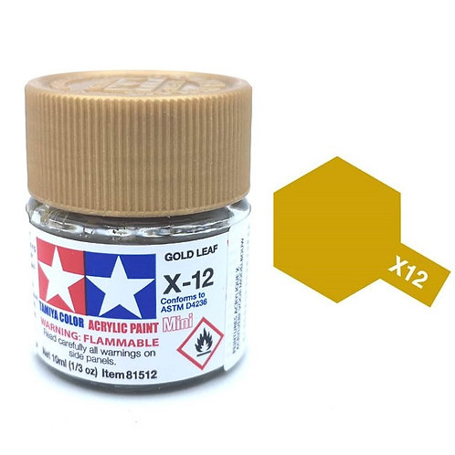 Tamiya X-12 - Or métallisé brillant (10ml)