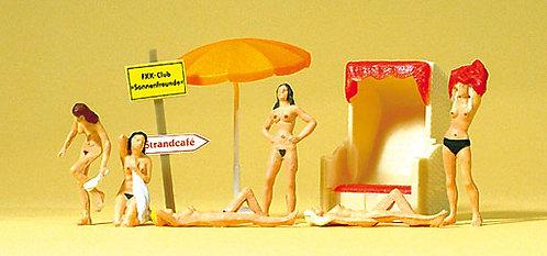 Preiser 10107 - Figurines, nudistes à la plage HO