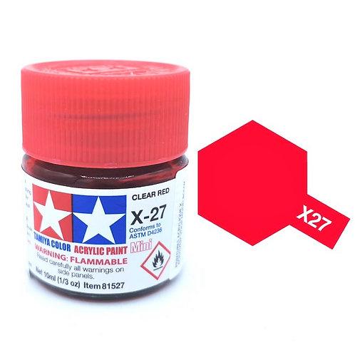 Tamiya X-27 - Rouge translucide (10ml)