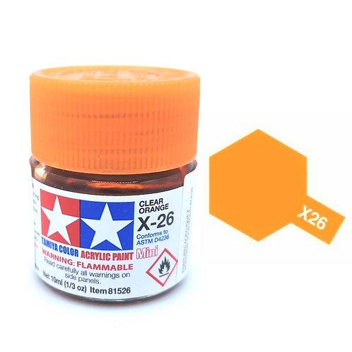 Tamiya X-26 - Orange translucide (10ml)