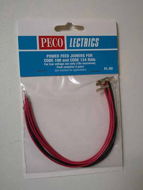 PECO PL-80 Eclisses câblées d'alimentation  HO