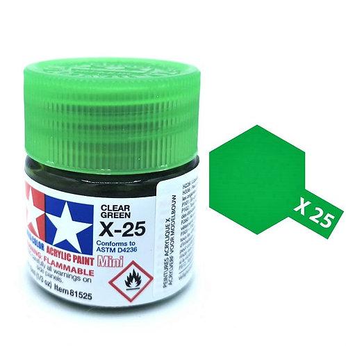 Tamiya X-25 - Vert translucide (10ml)