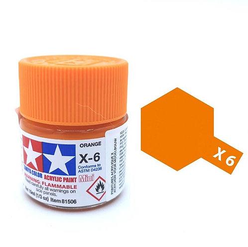 Tamiya X-6 - Orange brillant (10ml)