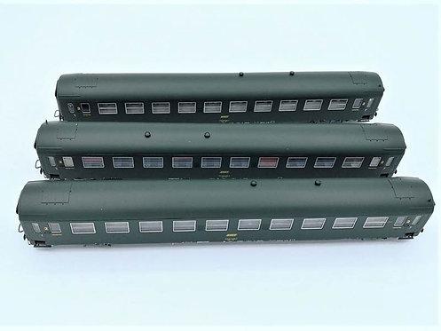 Coffret 3 voitures UIC Couchette  - REE Modeles VB-172