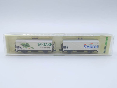 """Coffret wagons de marchandises """"TARTARE"""" """"ST MORET"""" - Minitrix 13899 échelle N"""