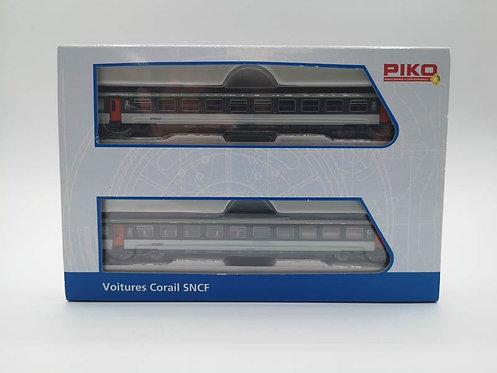 Coffret voitures voyageurs corail SNCF - Piko 94305 échelle N
