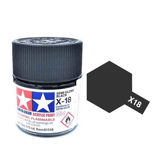Tamiya X-18 - Noir satiné (10ml)