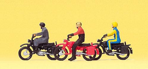 Preiser 10081 - Figurines, motards HO