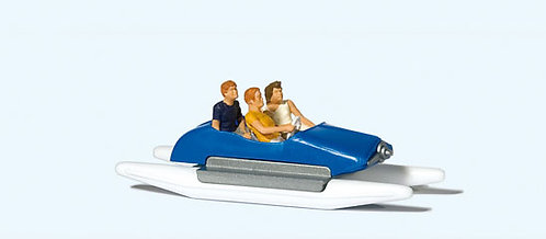 Preiser 10682 - Figurines, famille en pédalo HO