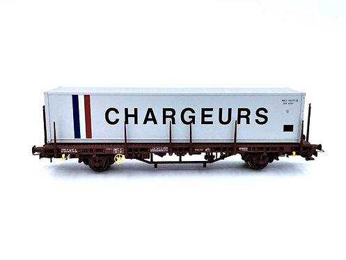 """Wagon plat type Lgs """"chargeurs""""- Electrotren 1560K HO"""