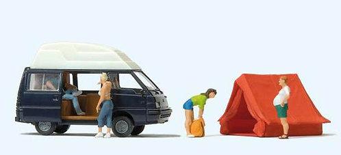 Preiser 33258 - Camping + voiture HO