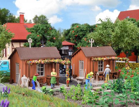 Abri de jardin (2 pièces) HO - Vollmer 43640