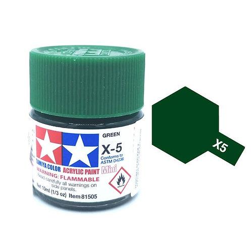 Tamiya X-5 - Vert brillant (10ml)