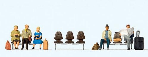 Preiser 10660 Figurines, voyageurs en attente HO
