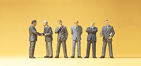 Preiser 10380 Figurines, hommes d'affaires HO