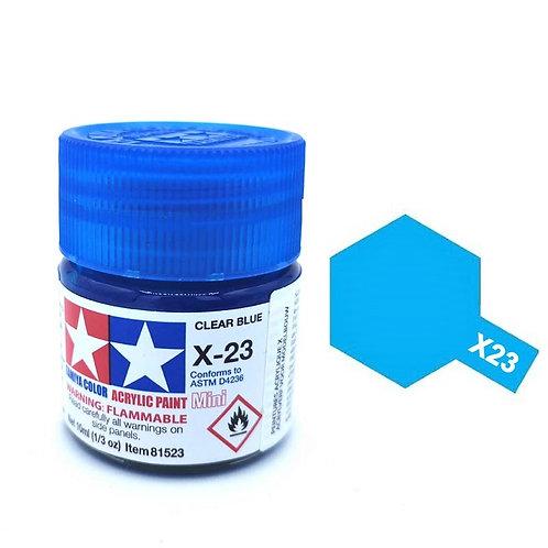 Tamiya X-23 - Bleu translucide (10ml)