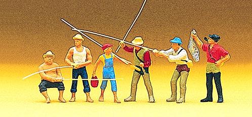 Preiser 10077 Figurines, pêcheurs à la ligne HO