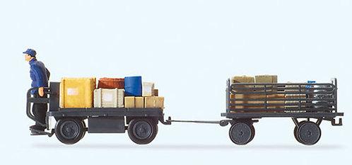 Preiser 10256 Figurines, conducteur de chariot à bagages HO