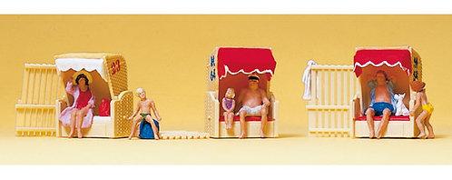 Preiser 10427 Figurines, le mirador de plage HO