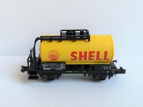 Wagon citerne shell MINITRIX réf 15655-23