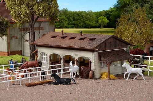 Vollmer 43790 Centre équestre avec paddock et chevaux