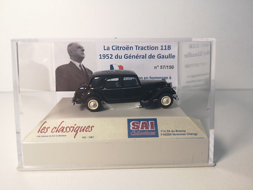 SAI Collections réf 6117 - Citroën Traction 11B, du Général de Gaulle HO
