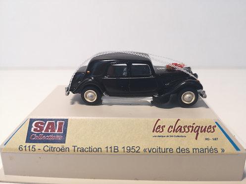SAI Collections réf 6115 - Citroën Traction 11B, voiture des mariés, noire HO