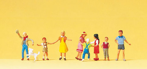 Preiser 10530 Figurines, enfants qui jouent HO