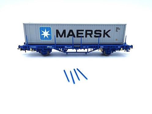 """Wagon plateau avec containeur """"MAERSK"""" - Electrotren 1552K"""