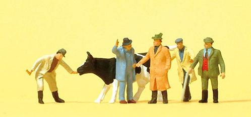 Preiser 14039 Figurines, marchands de bétail HO