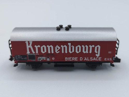 """Wagon de marchandises """"KRONENBOURG"""" - Minitrix 13898 échelle N"""