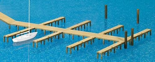 Preiser 17315 Figurines, kit pontons HO