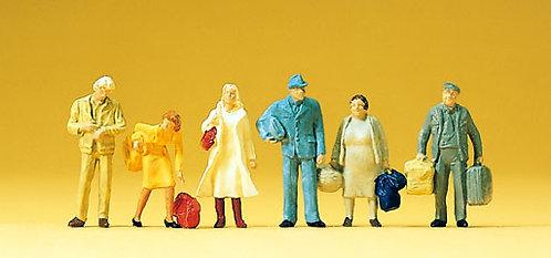 Preiser 14133 Figurines avec bagages HO