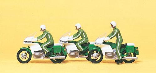 Preiser 10489 Figurines, motards policiers HO
